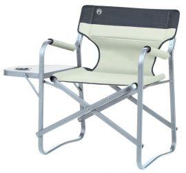 Coleman Khaki Deck Chair with Table