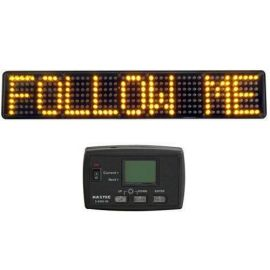 Haztec High Intensity LED 12v Matrix Message Board Amber