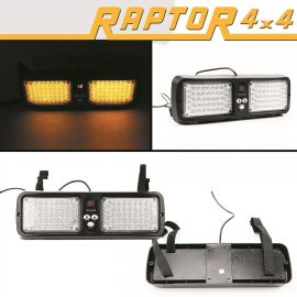 Raptor 4x4 Amber Recovery Visor Light 86 LED Flash Strobe