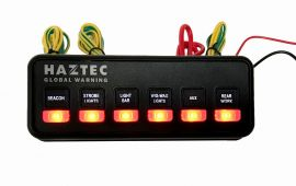 Haztec Switch Panel 6 Way 12v Suitable for Lighting etc