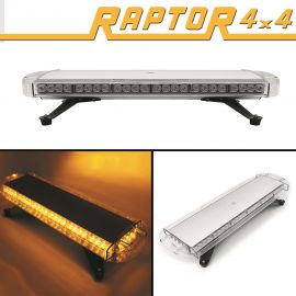 Raptor 4x4 Amber Recovery Light Bar 56 LED 56w Flash Strobe