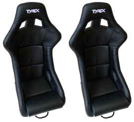 Tyrex Fixed Sports Seat Pair Leather Effect